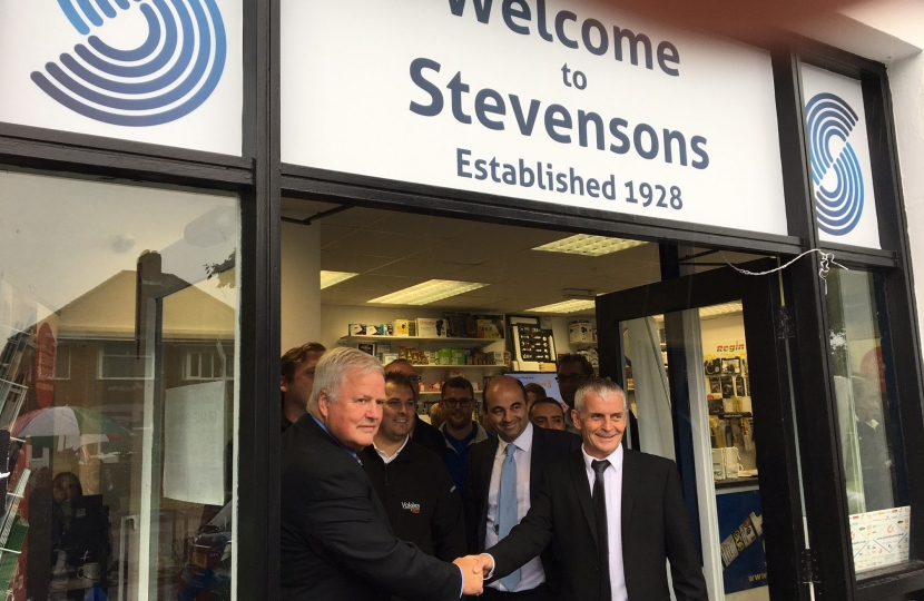 Opening new offices for Stevenson Heating Limited