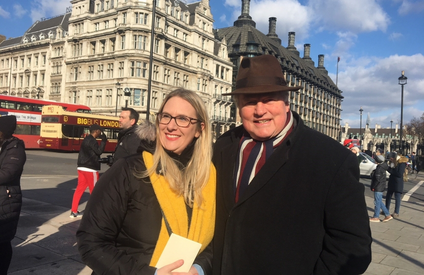 With Trudy Davey on Parliament Square