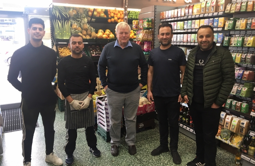 With the staff of Wickham Food Centre