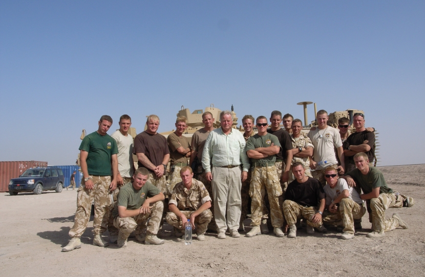 Bob with British Soldiers at the Coalition Air Base in Basra 2007