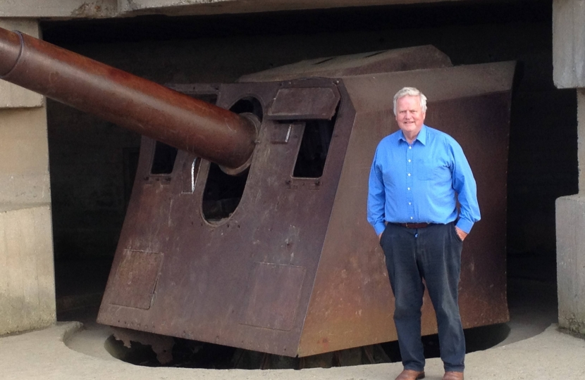 Bob at the Longues Battery in Normandy