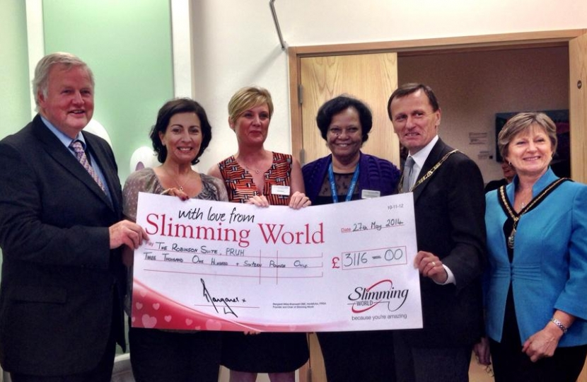 Slimming World Members Sponsor The Robinson Suite At The